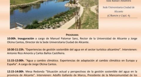"""Jornada """"Agua y Sostenibilidad"""" Alicante motivo Día Mundial Agua #todoesagua"""