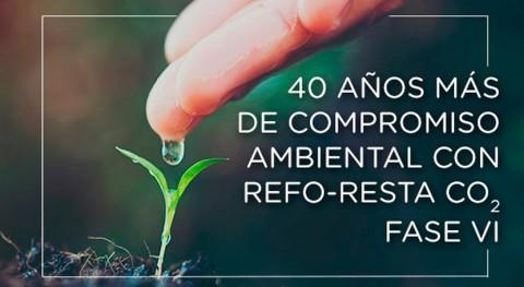 40 años más compromiso ambiental refo-resta CO2. Fase VI