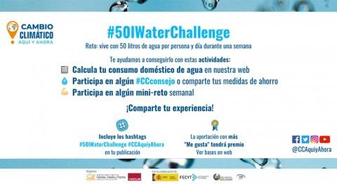"""YWP Spain apoya #50lWaterChallenge """"Cambio Climático, Aquí y Ahora"""""""