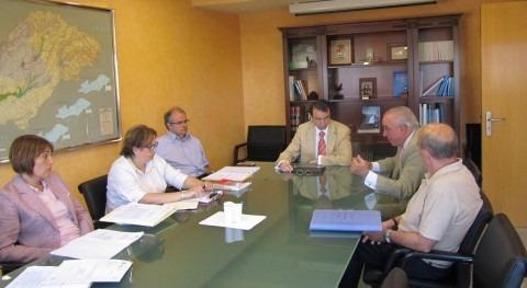 Miguel Antolín recibe al Alcalde Cogolludo analizar situación infraestructuras riego