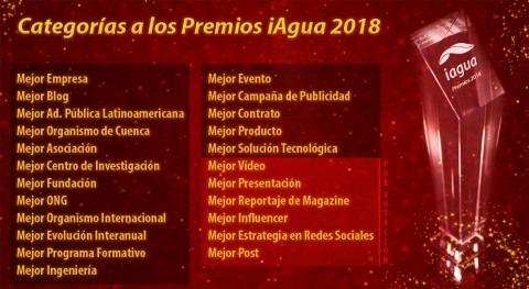 Finalizan votaciones decidir 6 categorías Premios iAgua 2018