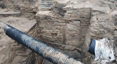 Unas obras alcantarillado desvelan supuesta sauna que podría datar Edad Hierro