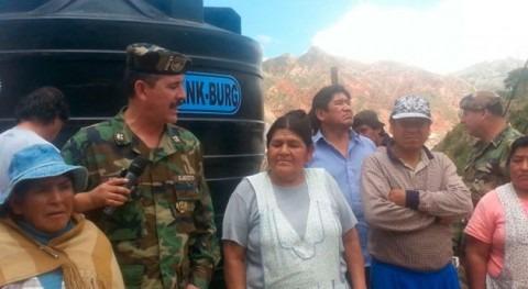 Continúa abastecimiento agua potable barrios bolivianos escasez