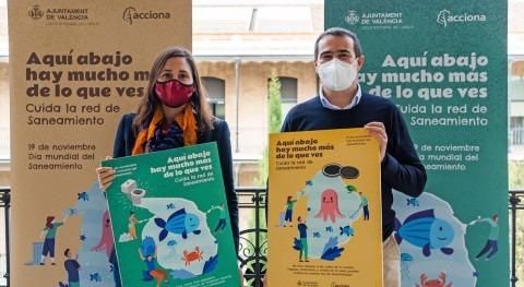 ACCIONA y Ayuntamiento Valencia conciencian valor red saneamiento
