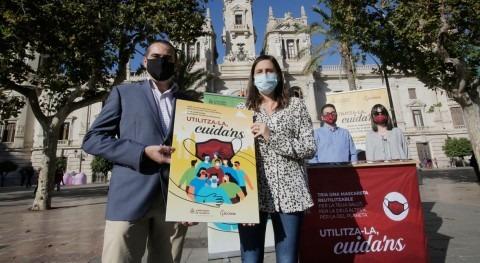 Valencia y ACCIONA repartirán mascarillas reutilizables barrios menor renta