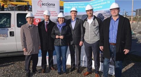 ACCIONA se adjudica construcción presa Canadá 5.800 millones euros