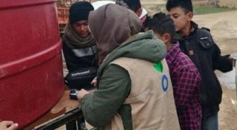 Aumentadas distribuciones agua Siria prevenir expansión COVID-19