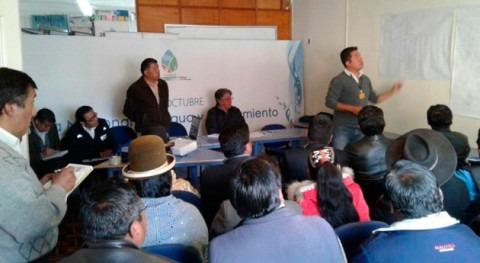 Gobierno boliviano evalúa implementar proyectos agua potable y alcantarillado Achocalla