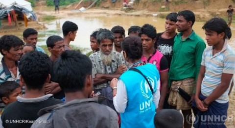 ayudas rohingya refugiados Bangladesh se centran prevención inundaciones