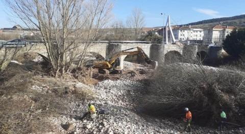 Inicio labores recuperación capacidad desagüe río Híjar, Cantabria
