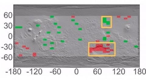 estudio indica que acuíferos ecuador Marte están trazados cambios hidrógeno