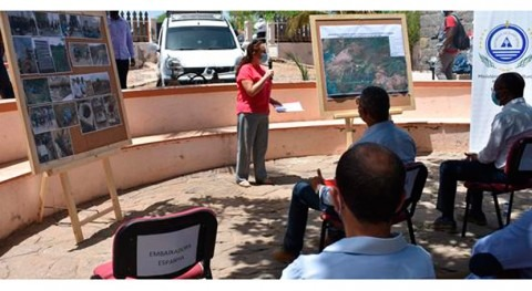 Inauguración proyecto instalación riego goteo sostenible Tarrafal, Cabo Verde