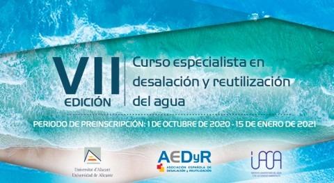 AEDyR presenta VII Edición curso Especialista Desalación y Reutilización Agua
