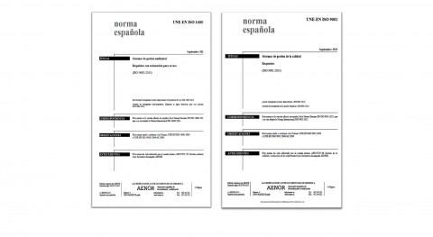 Aqualia adapta Sistema Gestión novedades Normas ISO 9001 y 14001