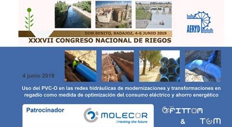 Molecor, empresa patrocinadora XXXVII Congreso Nacional Riegos AERyD
