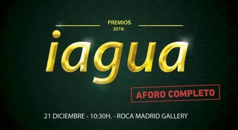 Aforo completo Gala Premios iAgua que se celebrará mañana