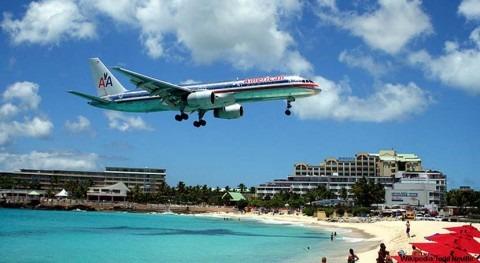 gestión agua avión comercial