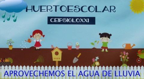 agua lluvia aporta 1.900 litros alumno y año colegio público Madrid