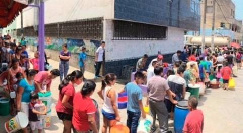 propósito que Lima no tendrá agua tres días