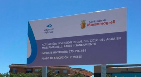 Massamagrell y Aguas Valencia invierten red alcantarillado evitar inundaciones