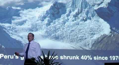 Al Gore durante su intervención.