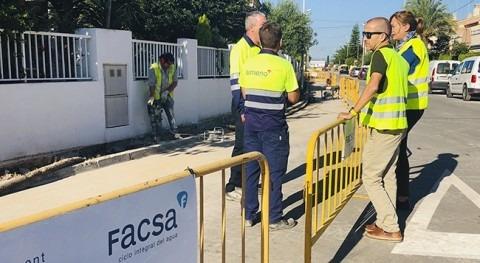 FACSA renueva red agua potable distrito marítimo Almassora