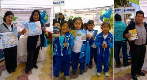 ANA conciencia Huella Hídrica durante Expoferia Ambiental Tacna