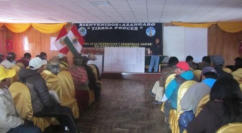 Taller de capacitación organizado por la AAA Titicaca y la ALA Ramis