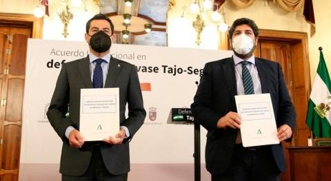 """Andalucía y Murcia estarán """"unidas"""" """"cierre"""" trasvase Tajo-Segura y reclaman diálogo"""