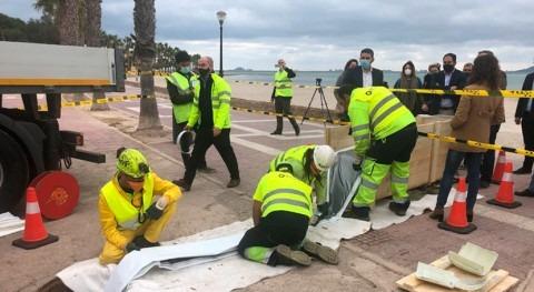 Murcia ultima obras reparación colectores saneamiento Alcázares