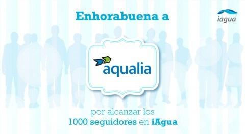 Aqualia supera 1.000 seguidores iAgua