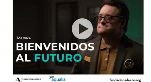 Aqualia #Contralasetiquetas favor integración laboral personas discapacidad