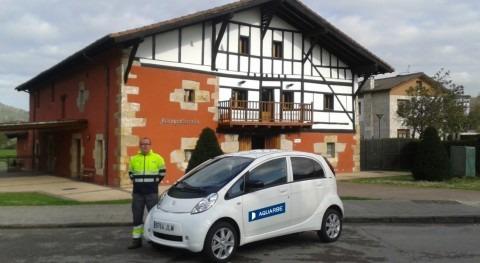 Aquarbe adquiere coche eléctrico que disminuirá emisiones Amorebieta-Etxano