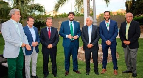 "López Miras: "" agua es combustible indispensable empleo y riqueza Murcia"""