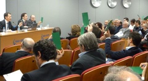 Momento de una de las votaciones durante la Asamblea General