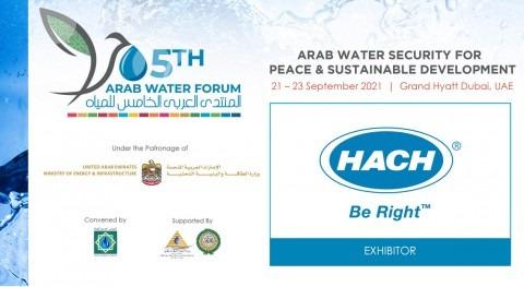 Hach participa 5th Arab Water Forum 21 al 23 septiembre Dubai