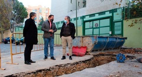 Jaén destina año más millón euros renovar redes abastecimiento y saneamiento