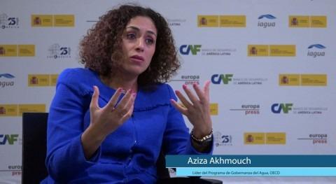 "Aziza Akhmouch: "" diálogo es importante ser conscientes riesgos agua"""