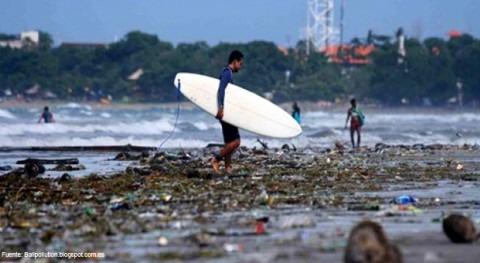 Lo que turismo no ve. contaminación ríos Bali