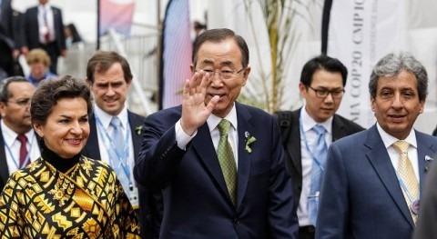 Llegada de Ban Ki-moon a la COP20.