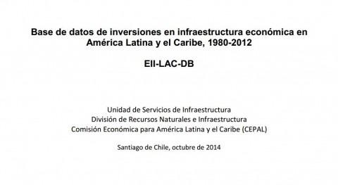 """CEPAL publica """"Base datos inversiones infraestructura América Latina y Caribe, 1980-2012"""""""