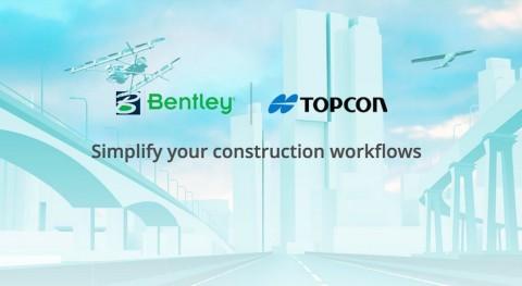 Topcon y Bentley fortalecen programas y iniciativas ingeniería construcción