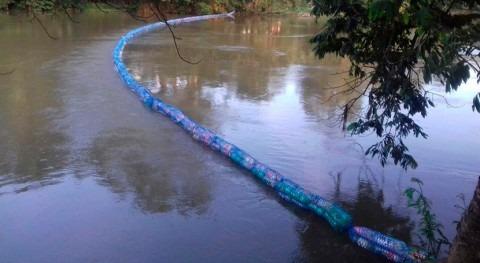 Guatemala instala biobarda 100 metros capturar contaminación río Mopan