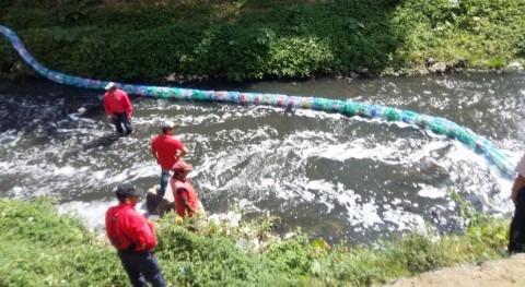Guatemala instala cuarta biobarda país río Guacalate, Sacatepéquez