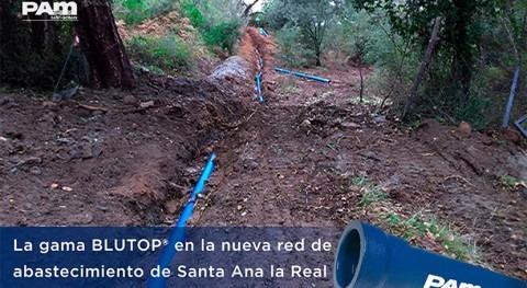 Tubería BLUTOP® Saint-Gobain PAM nueva red abastecimiento Santa Ana Real