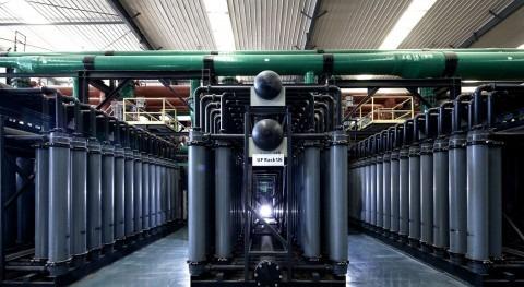 Bastidores de membranas de ultrafiltración de la planta desaladora de Qingdao, China