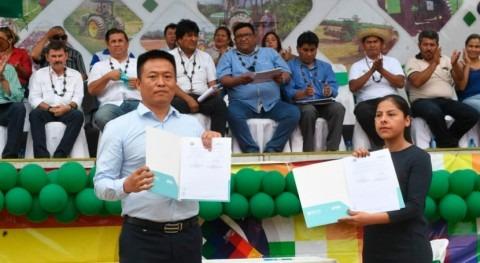 Bolivia concreta construcción megaobra agua potable Trinidad