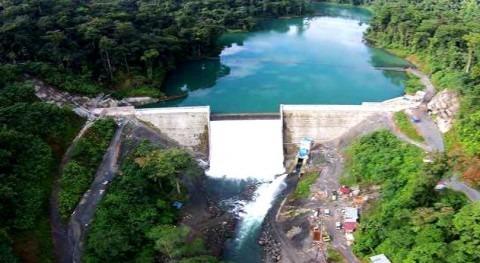 Vista aérea de la Presa del Proyecto Hidroeléctrico Bonyic.