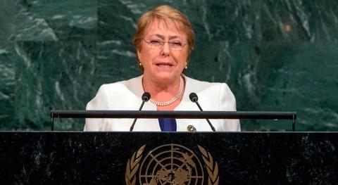 cambio climático protagoniza último discurso Bachelet ONU