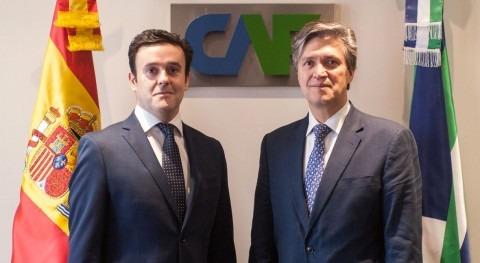 José Carrera, vicepresidente CAF, recibe Alejandro Maceira, director iAgua